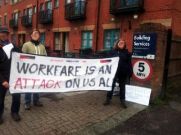 Homes for Haringey workfare demo